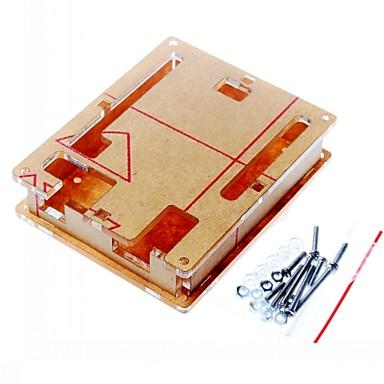 case kabinett gjennomsiktig akryl boks klart deksel for arduino uno r3 bord r3