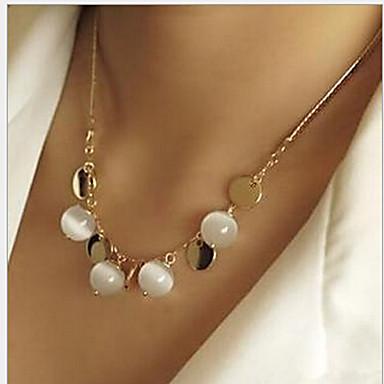 preiswerte Halsketten-Damen Opal Mondstein Ketten Böhmische Opal Aleación Gold Modische Halsketten Schmuck Für