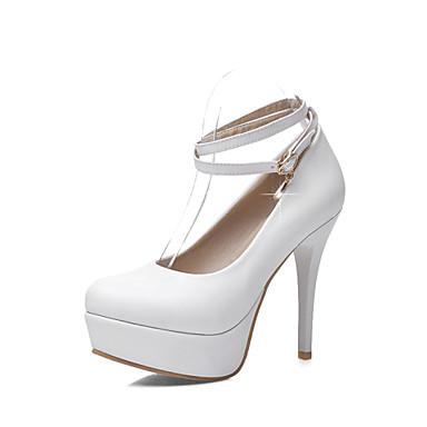 Kényelmes / Kerek orrú - Magas - Női cipő - Magassarkú - Esküvői / Szabadidős / Ruha / Alkalmi - Bőrutánzat -Kék / Rózsaszín / Fehér /
