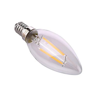 YWXLIGHT® 320 lm E14 E26/E27 LED-lysestakepærer A60(A19) 2 leds COB Dekorativ Varm hvit Naturlig hvit AC 220-240V