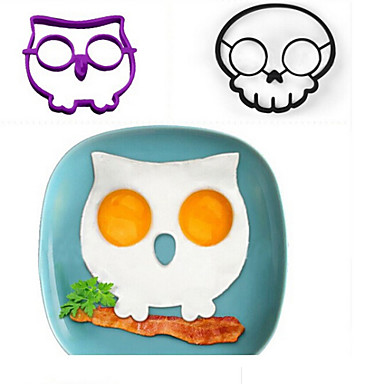 1 Pc Owl Shaped Plastic Fried Egg Mould Creative Kitchen Tools
