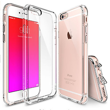 Etui Til Apple iPhone 6 iPhone 6 Plus Gjennomsiktig Bakdeksel Helfarge Myk TPU til iPhone 6s Plus iPhone 6s iPhone 6 Plus iPhone 6