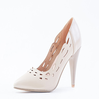 Magassarkú / Hegyes orrú - Stiletto - Női cipő - Magassarkú - Ruha - Bőrutánzat - Rózsaszín / Fehér / Bézs