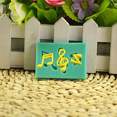 Music Note DIY Silicone Chocolate Pudding Sugar Cake Mold Color Random