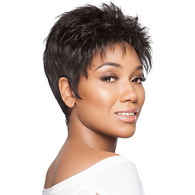 Women's Synthetic Wig Short Straight Natural Black Natural Wigs Halloween Wig Carnival Wig Costume Wig