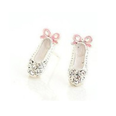 Women's Crystal Stud Earrings - Crystal, Rhinestone Bowknot Cute White For Party / Daily / Casual
