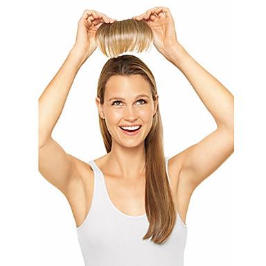 Sentetik Saç Ek saç Düz Klasik Klipsli Günlük Yüksek kalite