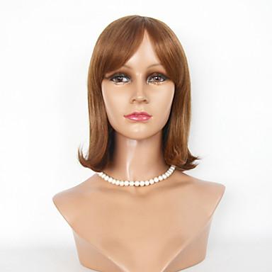 שיער ללא שיער שיער אנושי ישר תספורת בוב 4-8 אינץ' 8-11 אינץ' ללא מכסה פאה בגדי ריקוד נשים