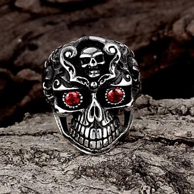 Prstenje Moda Party Jewelry Čelik Žene Prstenje sa stavom 1pc,Univerzalna veličina Crna