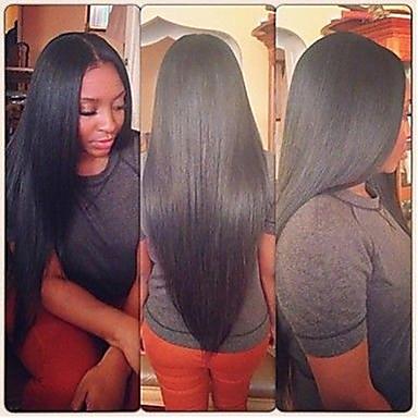 Női Emberi hajból készült parókák Emberi haj Csipke eleje 120% Sűrűség Egyenes Paróka #27 #30 #33 #4/27 #1B/30 Hosszú Ombre haj