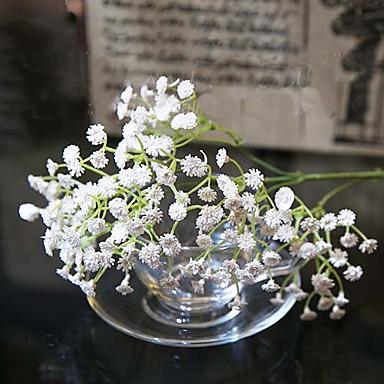 1 şube İpek Silis Jeli Çöven Otu Masaüstü Çiçeği Yapay Çiçekler