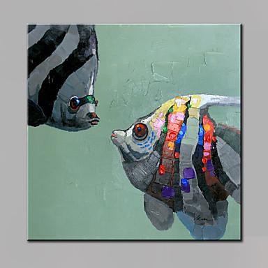 El-Boyalı Hayvanlar Dörtgen, Modern Tuval Hang-Boyalı Yağlıboya Resim Ev dekorasyonu Tek Panelli