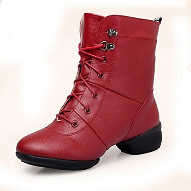 Sapatos de Dança (Preto / Vermelho) - Mulheres - Não Personalizável - Moderno