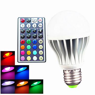 B22 E26/E27 LED Globe Bulbs A60(A19) 3 High Power LED 550 lm RGB 6500 K Dimmable Remote-Controlled Decorative AC 100-240 V