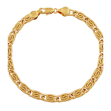 Armbänder Ketten- & Glieder-Armbänder Aleación / Kupfer / vergoldet Hochzeit / Party / Alltag / Normal Schmuck Geschenk Goldfarben,1 Stück