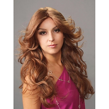Synthetic Hair Wigs Curly Capless Long Brown