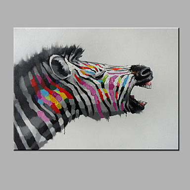 Hand-Painted Animals Horizontal, Modern Canvas Oil Painting Home Decoration One Panel