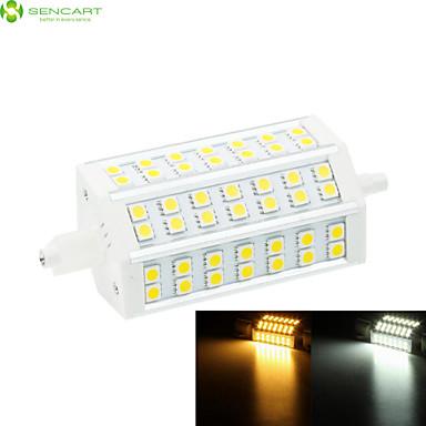 10W R7S LED Yer Işıkları Gömme Uyumlu 42 SMD 5060 800-1000 lm Sıcak Beyaz / Serin Beyaz Kısılabilir AC 85-265 V 1 parça