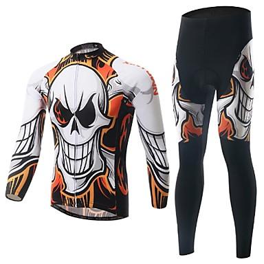 Calça com Camisa para Ciclismo Homens Manga Comprida MotoRespirável / Resistente Raios Ultravioleta / Permeável á Humidade / Compressão /