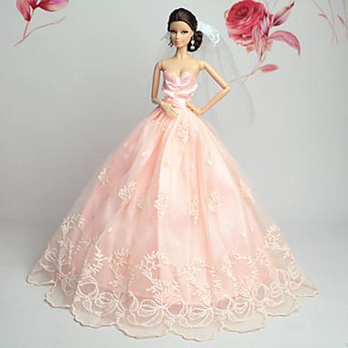 d8fe098cbf1b Πάρτι Απόγευμα Φορέματα Για Κούκλα Barbie Δαντέλα Organza Φόρεμα Για Κορίτσια  κούκλα παιχνιδιών