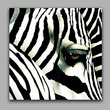 El-Boyalı Hayvan Kare,Modern Tek Panelli Kanvas Hang-Boyalı Yağlıboya Resim For Ev dekorasyonu