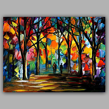 Oil Painting Hand Painted - Landscape European Style Canvas