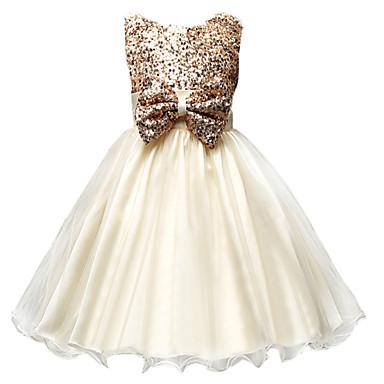 Χαμηλού Κόστους Ρούχα για Κορίτσια-Νήπιο Κοριτσίστικα Επίσημο ρούχο Ζακάρ Αμάνικο Το μανίκι μέγεθους S είναι 61 εκ (Το μήκος του μανικιού αυξάνεται 1 εκ με κάθε μεγαλύτερο μέγεθος) Βαμβάκι Πολυεστέρας Φόρεμα Πράσινο