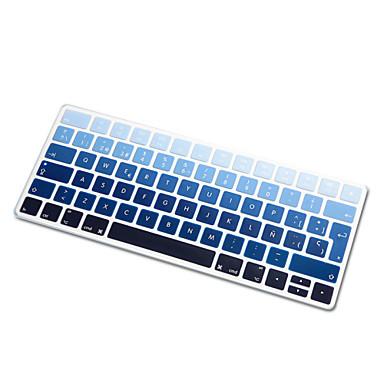 Sihirli klavyenin 2015 sürümü ab düzeni için İspanyolca dil gökkuşağı degrade ultra ince silikon klavye cilt kapağı