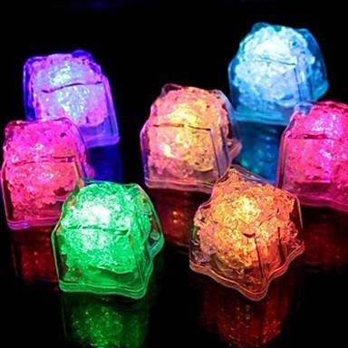 su sensörü çok renkli değişen led buz küpleri olay parti led ışık ices