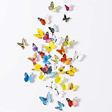 Hayvanlar Duvar Etiketler 3D Duvar Çıkartması Dekoratif Duvar Çıkartmaları, Kağıt Ev dekorasyonu Duvar Çıkartması Duvar