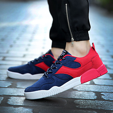 Men's Shoes Casual Synthetic Fashion Sneakers Blue / Red / Gray