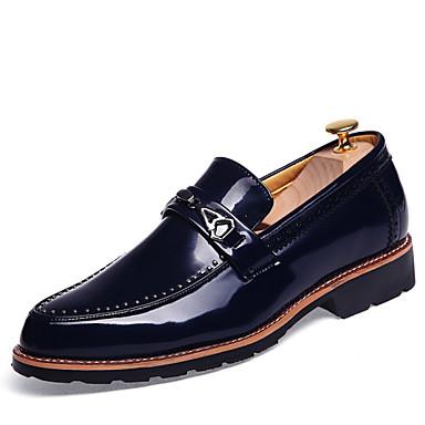 Miehet Oxford-kengät muodollinen Kengät Comfort Kesä Syksy Nahka Juhlat Tasapohja Musta Ruskea Punainen Sininen Tasapohja