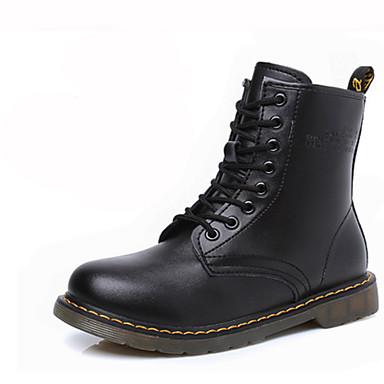 Kadın's Ayakkabı Tüylü Kış Sonbahar Kovboy / Western Çizmeleri Platform Bootiler/ Bilek Botları Atletik Günlük için Bağcıklı Siyah Kırmzı