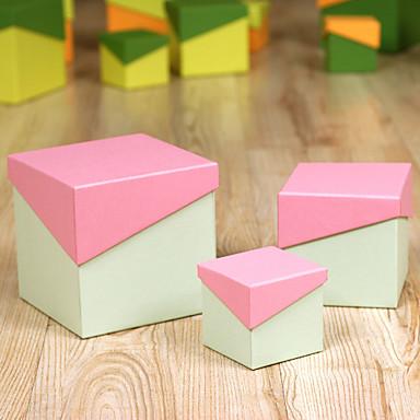 3 Adet/Set Favor Tutucu-Yaratıcı Kart Kağıdı Hediye Kutuları Kişiselleştirilmemiş
