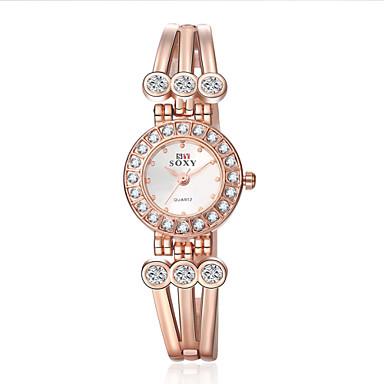 Mulheres Relógio de Moda Bracele Relógio Relógio de Pulso Quartzo Lega Banda Flor Elegantes Dourada Dourado