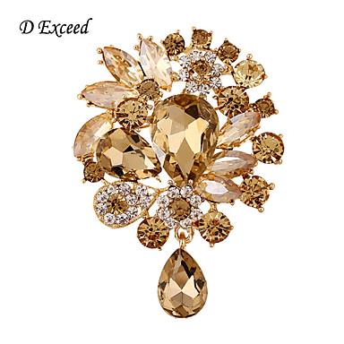 d haladja új divat kristály tiszta aranyozott shinging bross pin ékszerek nők