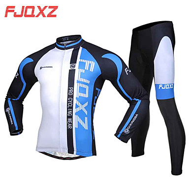 FJQXZ Cycling Jersey with Tights Men's Long Sleeves Bike Sleeves Clothing Suits Thermal / Warm Quick Dry Windproof Ultraviolet Resistant