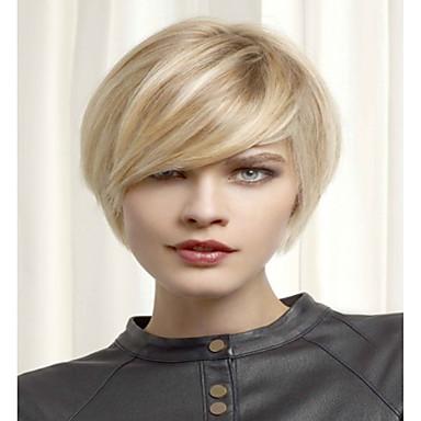 Synthetic Hair Wigs Wavy Carnival Wig Halloween Wig Short Blonde