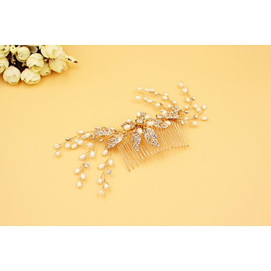 Golden Blossom And Crystal Spray Comb - Wedding / Special Occasion Headpiece