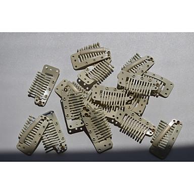 parókát kiegészítők 3.6cm szőke beépülő fésű klipek klip kiterjesztések vetülék / paróka haj szerszámok 20db