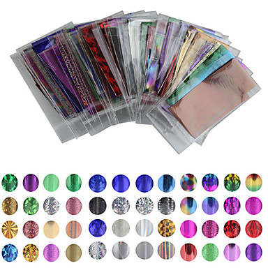 50 pcs Nail Foil Striping Tape Neglekunst Manikyr pedikyr Smuk Tegneserie / Punk / Mote Daglig / Folie Stripping Tape