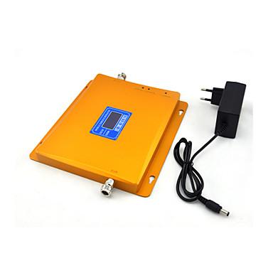 Gsm dcs mobiltelefon signal booster 2g 900mhz 4g 1800mhz signal repeater forsterker med strømforsyning lcd display / golden