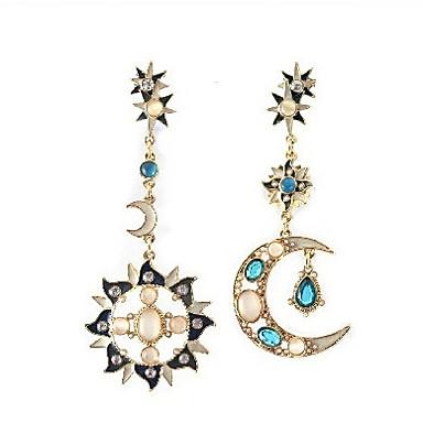 Damen Tropfen-Ohrringe Nicht übereinstimmen Synthetische Edelsteine Kubikzirkonia Aleación MOON Schmuck Modeschmuck