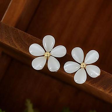 billige Moteøreringer-Dame Syntetisk Opal Øredobber Blomst Billig damer øredobber Smykker Hvit Til Bryllup Fest Daglig Avslappet