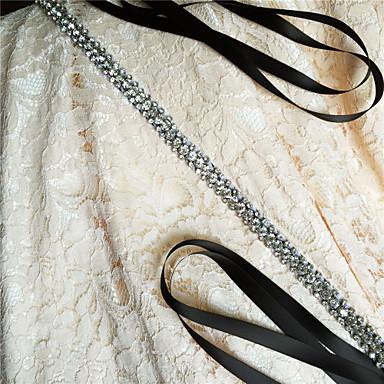 Satin Wedding Party / Evening Dailywear Sash With Rhinestone Beading Women's Sashes