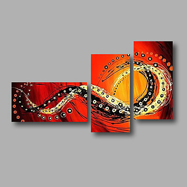 Hand-Painted Abstract Any Shape, Modern Canvas Oil Painting Home Decoration Three Panels