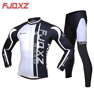 FJQXZ Calça com Camisa para Ciclismo Homens Manga Longa Moto braço aquecedores Conjuntos de Roupas Térmico/Quente Secagem Rápida A Prova