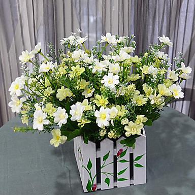 Polyester Papatyalar Yapay Çiçekler