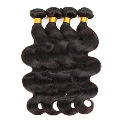 Brazilian Hair Virgin Human Hair Natural Color Hair Weaves 3 Bundles 8-28 inch Human Hair Weaves Hot Sale natural black Human Hair Extensions