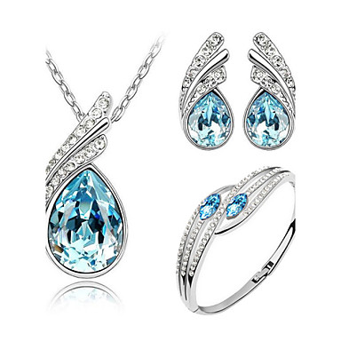 Women's Wedding Party Birthday Engagement Gift Daily Casual Crystal Earrings Necklaces Bracelets & Bangles
